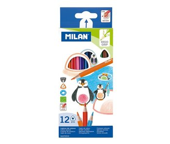 Milan 12 Ergo Watercolour Pencils