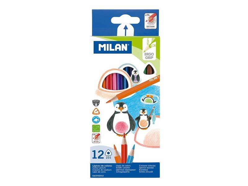 Milan 12 Ergo Watercolour Pencils