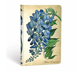 PAPERBLANKS JOURNAL 3.5x5.5 LINED HC BLOOMING WISTERIA PAINTED BOTANICALS