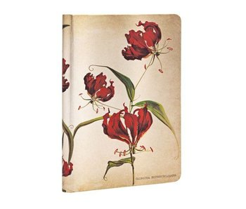 PAPERBLANKS JOURNAL 3.5x5.5 LINED HC GLORIOSA LILY PAINTED BOTANICALS