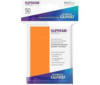 ULTIMATE GUARD SUPREME UX STANDARD SIZE CARD SLEEVES 50PK MATTE ORANGE
