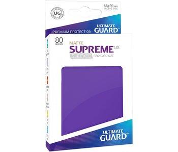 ULTIMATE GUARD SUPREME UX STANDARD SIZE CARD SLEEVES 50PK MATTE PURPLE