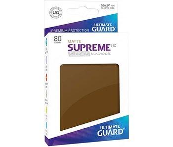ULTIMATE GUARD SUPREME UX STANDARD SIZE CARD SLEEVES 50PK MATTE BROWN
