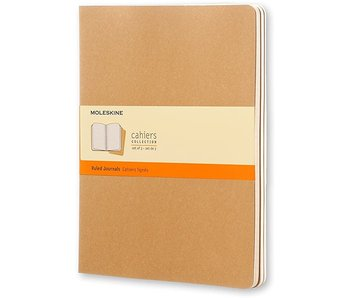 MOLESKINE EXTRA LARGE CAHIER SET OF 3 JELRCB BROWN