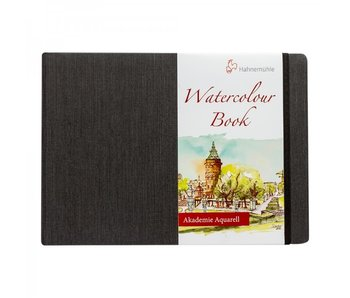 Watercolour Book 200gsm Hardbound 30 sheet/60 page book, landscape 8.27x5.83""