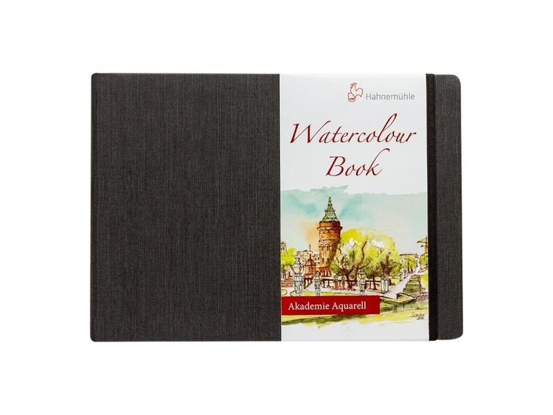 "Watercolour Book 200gsm Hardbound 30 sheet/60 page book, landscape 8.27x5.83"""