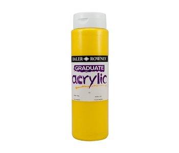 GRADUATE ACRYLIC 500ML METALLIC YELLOW