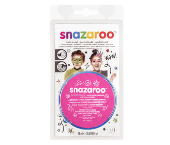 SNAZAROO FACE PAINT CARDED 18ML BRIGHT PINK