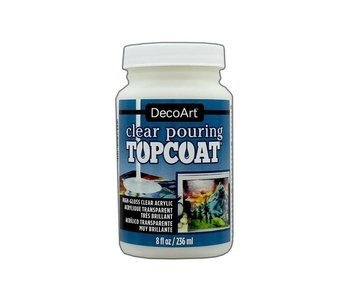DECOART CLEAR POURING TOPCOAT HIGH GLOSS ACRYLIC 8OZ