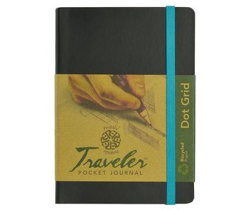 PENTALLIC TRAVELER POCKET JOURNAL DPT GRID 6X4 BLACK