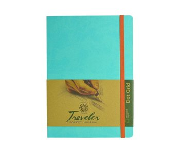PENTALLIC TRAVELER POCKET JOURNAL DOT GRID 8X6""