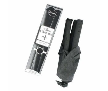COATES WILLOW CHARCOAL EXTRA-THICK 4PC
