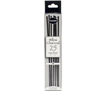 COATES WILLOW CHARCOAL THIN 25PC