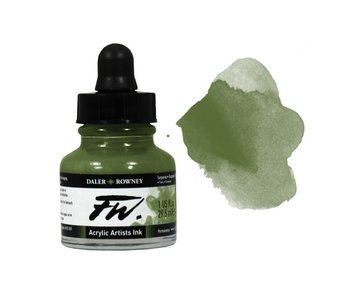 FW ACRYLIC INK OLIVE GREEN 1OZ