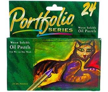 PORTFOLIO SERIES WATER SOLUBLE OIL PASTELS 24PK