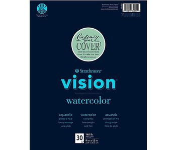 STRATHMORE VISION WATERCOLOR PAD 9 X 12