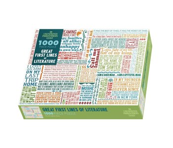 GREAT FIRST LINES OF LITERATURE 1000 Piece Puzzle