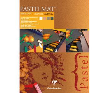 "Pastelmat 12x16"" 3 sheet each of White, Sienna, Brown, Anthracite"