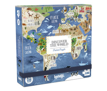 Londji Pocket Puzzle: Discover the World