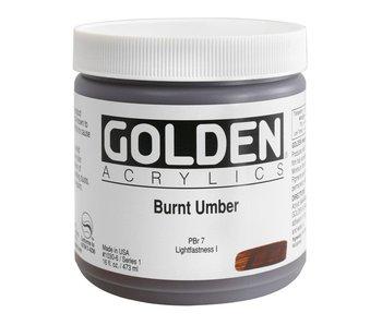 Golden 16oz Burnt Umber Heavy Body Series 1