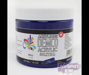 Demco 16OZ 473ML Fluid Acrylic Phthalo Blue