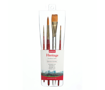 Princeton  Heritage Synthetic Sable Watercolor & Acrylic Brushes, Synthetic Sable Watercolour Set