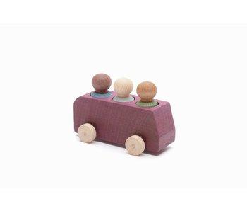 Lubulona: Wooden Bus and Figures Plum