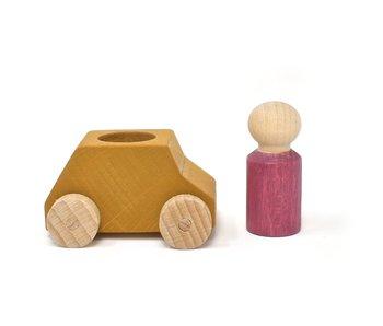 Lubulona: Wooden Ochre Car