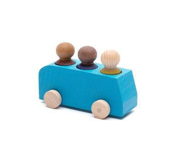 Lubulona Wooden Bus with Figures Blue