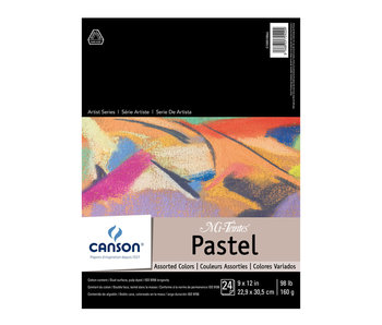 """Canson Mi-Teintes Paper Pad 9x12"""" Assorted Colours"""