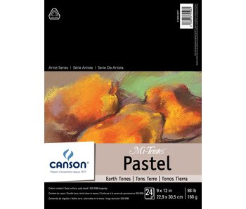 """Canson Mi-Teintes Paper Pads 24 sheets 9X12"""" Assorted Earth Tone Colours"""