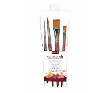 Princeton Velvetouch Brush Set 4 Piece