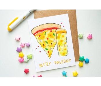 """Vena Carr Illustration """"Better Together"""" Blank Card and Envelope Pack of 4"""