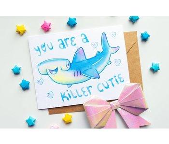"""Vena Carr Illustration """"Killer Cutie"""" Blank Card and Envelope Pack of 4"""