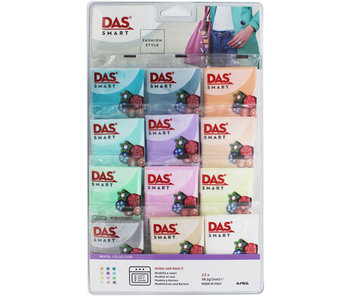 Lyra Das Smart 12x28G - Pastel Collection Oven Bake Ultra-Pliable Modelling Clay