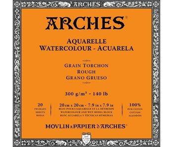 "ARCHES® Watercolour Rough 7.9"" x 7.9"" - 140lb / 300gsm Natural White 20 Sheet Block"