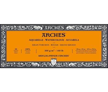 "ARCHES® Watercolour Rough 3.9"" x 9.8"" - 140lb / 300gsm Natural White 20 Sheet Block"