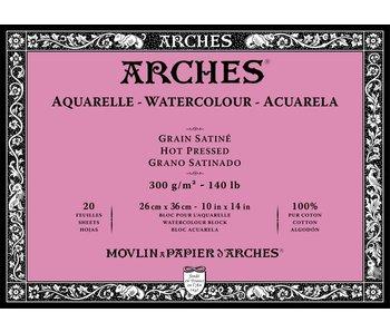 "ARCHES® Watercolour Hot Pressed 10"" x 14"""