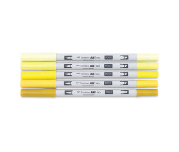 Tombow ABT PRO Brush Marker 5-Marker Sets, 5-Color Yellow Tones Set