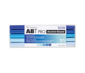 Tombow ABT PRO Brush Marker 5-Marker Sets, 5-Color Blue Tones Set