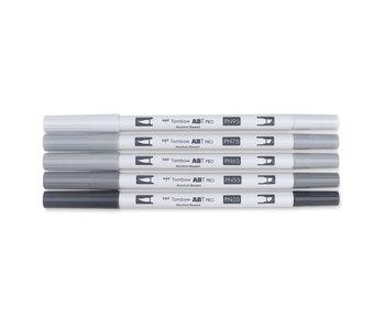 Tombow ABT PRO Brush Marker 5-Marker Sets, 5-Color Gray Tones Set
