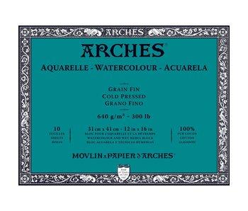Arches Watercolour Block Cold Pressed 300LB 12X16 10SH