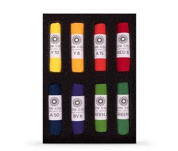 Unison Colour Soft Pastel - Bright 8 Box Set