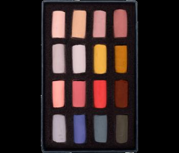 Unison Colour Soft Pastel - Portrait Half Stick 16 Box Set