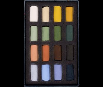 Unison Colour Soft Pastel  - Landscape Half Stick 16 Box Set