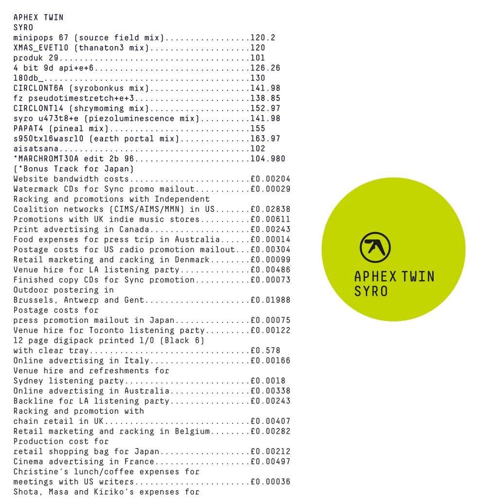 Aphex Twin • Syro-1