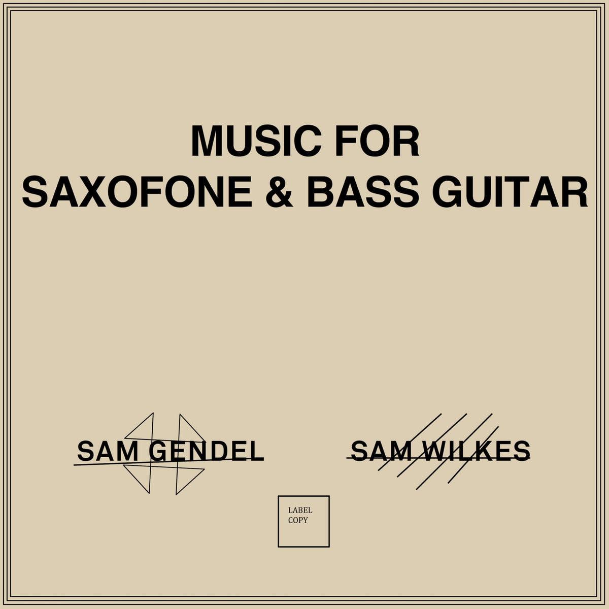 Sam Gendel & Sam Wilkes • Music For Saxophone & Bass Guitar-1