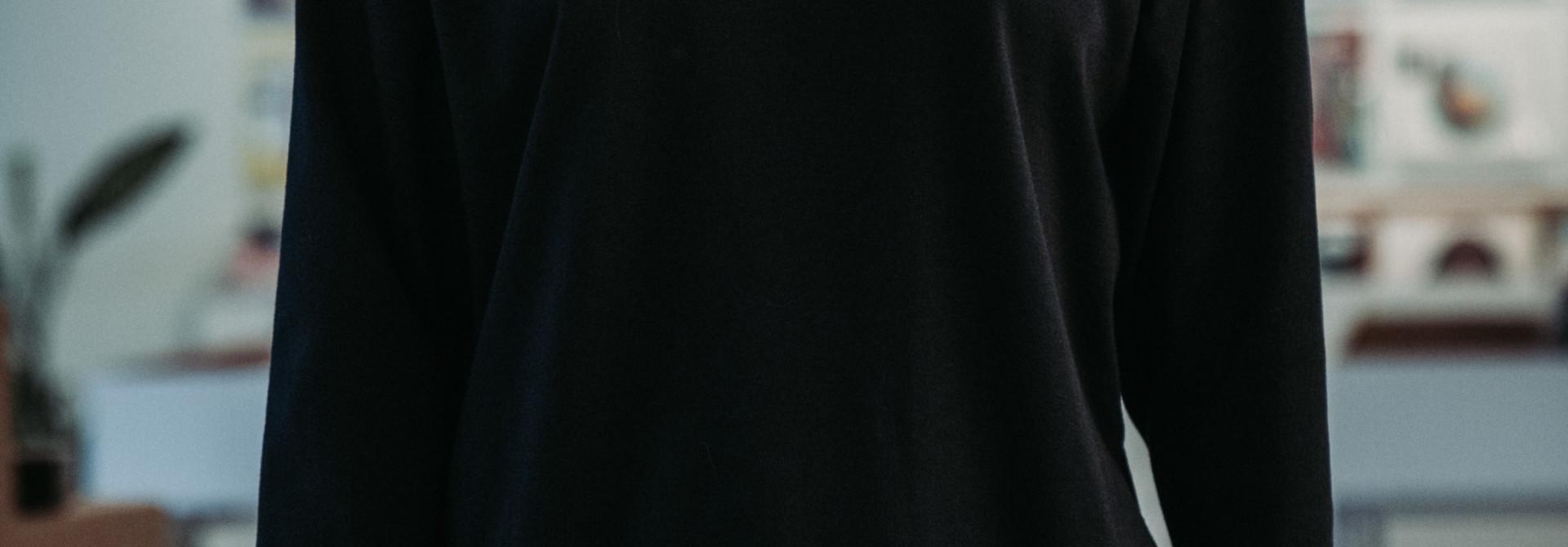 Chandail [noir] à manche longue
