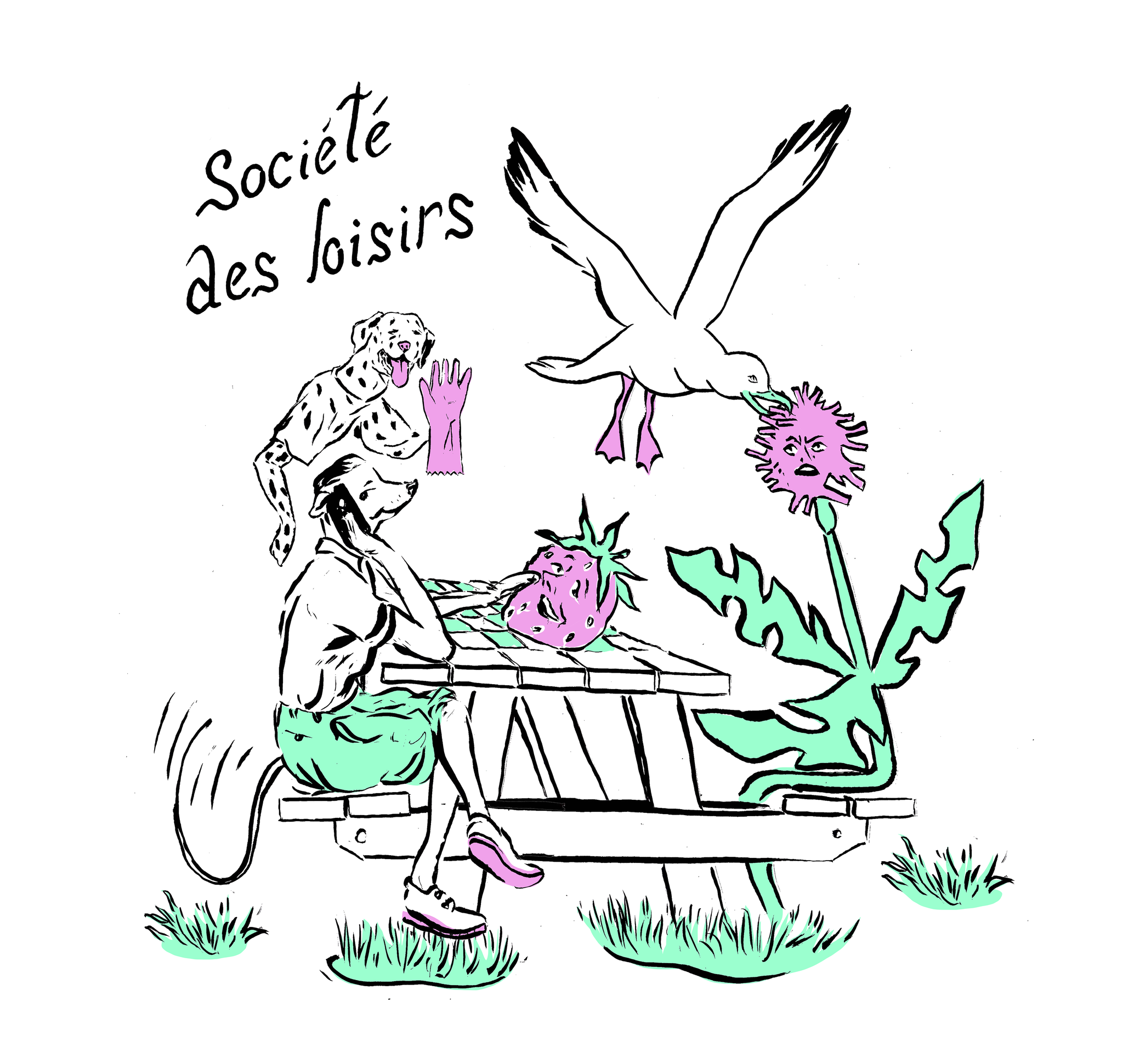 T-shirt SDL blanc - par Kaël Mercader-2