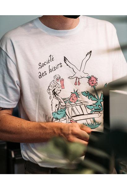 T-shirt SDL blanc - par Kaël Mercader